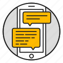 mobile, discussion, phone, messenger, chat, support, message