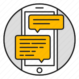 chat, discussion, message, messenger, mobile, phone, support icon