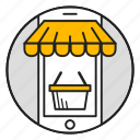 cart, mobile, online, phone, shop, shopping, store icon