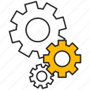 cogwheel, gear, mechanism, setting icon