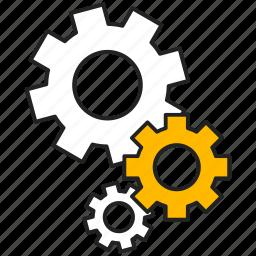 cogwheel, gear, mechanism, setting icon