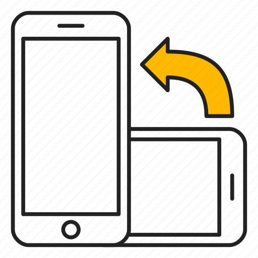device, mobile, orientation, phone, portrait icon