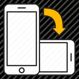 device, landscape, mobile, orientation, phone icon