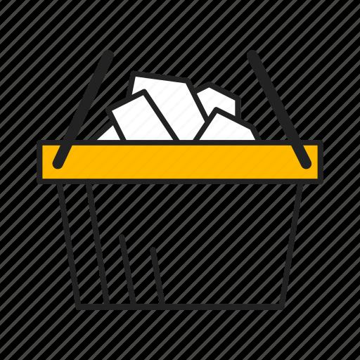 bucket, buy, commerce, ecommerce, shopping, shopping cart icon