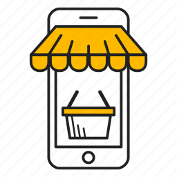 cart, mobile, online store, phone, shop, shopping, store icon