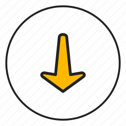 arrow, arrow down, down, downoad icon
