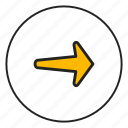 arrow, arrow right, controls, right icon