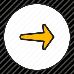 arrow, arrow right, controls, right icon