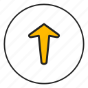 arrow, arrow top, direction, top, up, upload icon