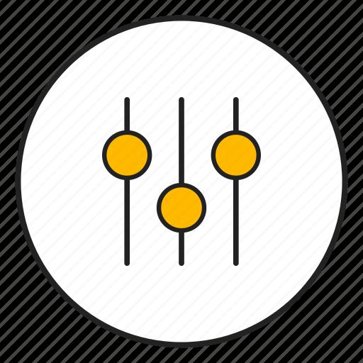 amplifier, audio, control, knob icon