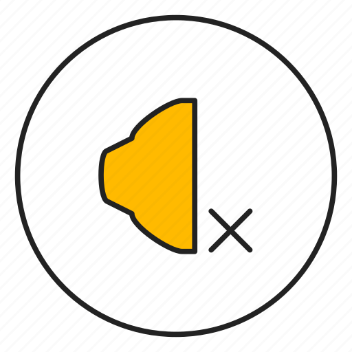 audio, cross, music, speaker icon