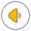 audio, music, sound, speaker icon