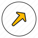 arrow left, arrow top, left, top icon