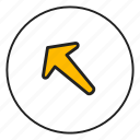 arrow, arrow left, arrow top, left, top icon