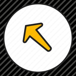 arrow, arrow left, arrow top, left, top icon