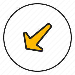 arrow bottom, arrow left, bottom, left icon