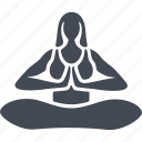 body, exercise, health, meditation, posture, relaxation, аsana - yoga icon
