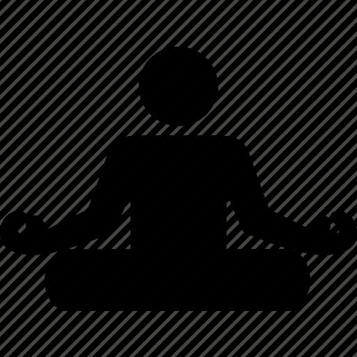 meditating, meditation, om, yoga icon