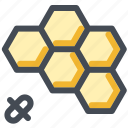apitherapy, bee, beehive, hexagon, honey, honeycomb, therapy icon