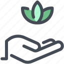 care, hand, herbal, lotus, spa, spacare, therapy icon