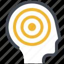 dot, head, headache, illness, man, pain, therapy icon