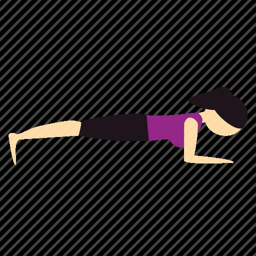 forearm, meditation, plank, pose, yoga icon