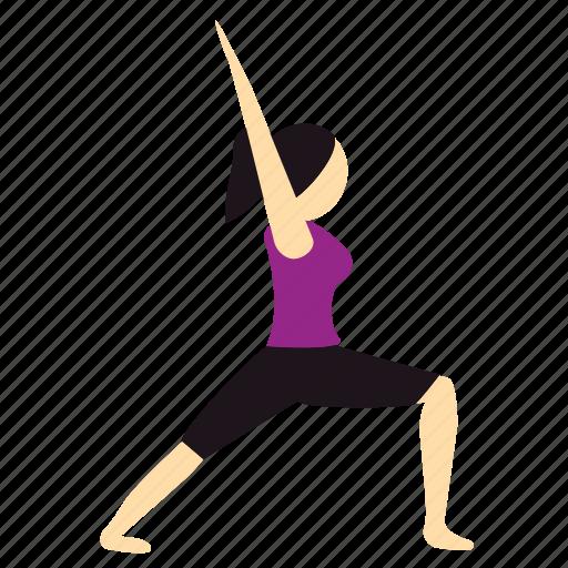meditation, pose, warrior, yoga icon