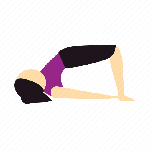 bridge, meditation, pose, yoga icon