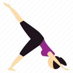 downward, facing, meditation, pose, yoga icon