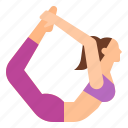 boat, dhanurasana, exercise, pose, yoga