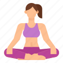 easy, exercise, pose, sukhasana, yoga icon