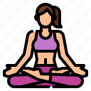 exercise, lotus, padmasana, pose, yoga icon