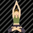 Exercise Fitness Meditation Pose Wheel Yoga Icon