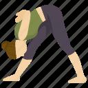 exercise, fitness, health, pose, yoga icon