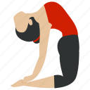 exercise, fitness, gym, health, relaxation, training, yoga icon