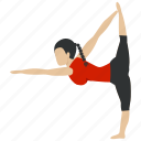 exercise, fitness, gym, pose, training, yoga, yogastand icon