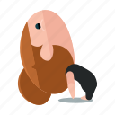 avatar, exercise, fitness, health, pose, relaxation, yoga icon