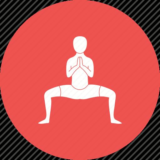 buddhist, pose, position, prayer, relaxation, religion, yoga icon