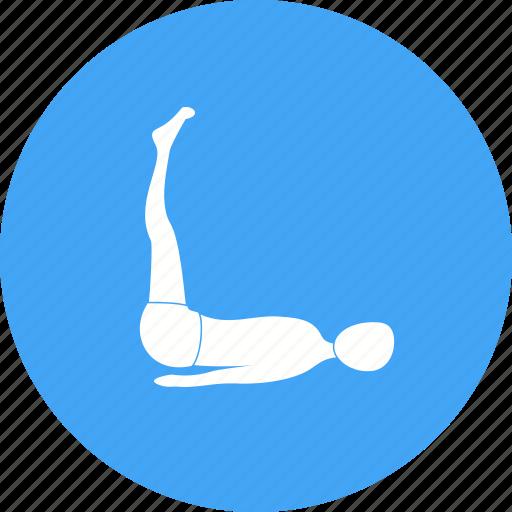aerobic, exercise, extended, feet, pose, stretch, yoga icon