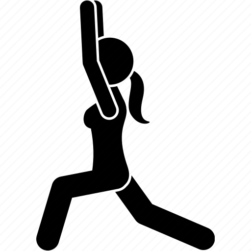 exercise, pose, posture, yoga icon