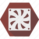 cooling, fan, pc, ventilation icon