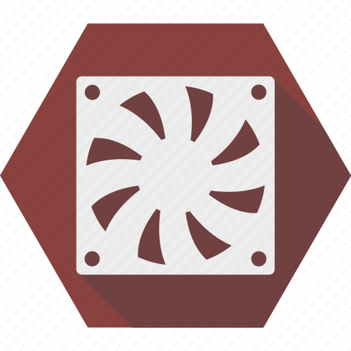 computer, cooler, cooling, fan, pc, ventilation icon
