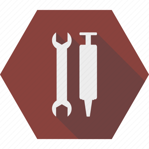 maintenance, repair, service, spanner, thermal grease, tools, wrench icon