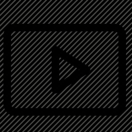 play, player, video, video pleyer, window, youtube, youtube icon icon