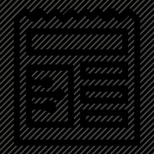 basic, document, ui icon