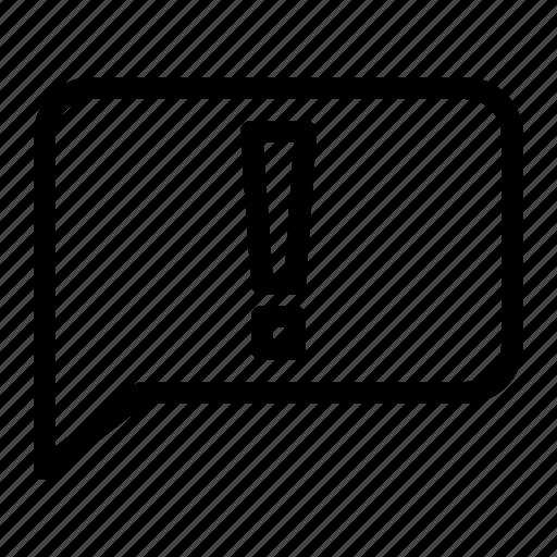 basic, chat, error, ui icon