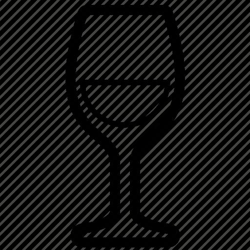 alcohol, glass, white, wine icon