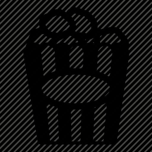 popcorn, theatre icon
