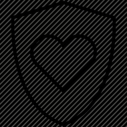 baby, health, heart, immunity, protection, shield, yumminky icon