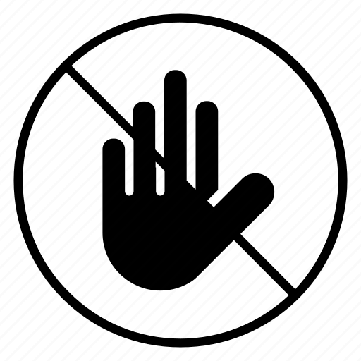 ban, farm, hand, insect, touch, warning, yumminky icon